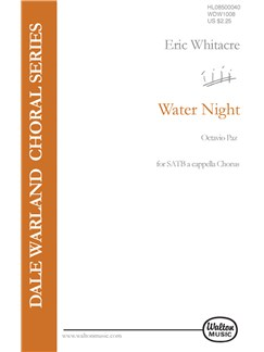 Eric Whitacre: Water Night Livre | SATB