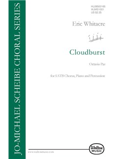 Eric Whitacre: Cloudburst Books | Soprano, Alto, Tenor, Bass, Handbells, Percussion, Piano