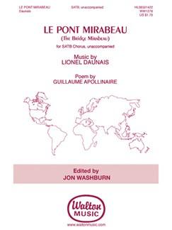 Lionel Daunais: Le Pont Mirabeau (The Bridge Mirabeau) Books | SATB