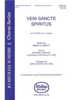 Mark Sirett: Veni, Sancte Spiritus (SSAATBB Choir, A Cappella) Books | SATB
