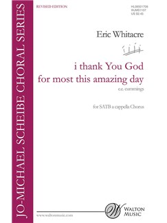 Eric Whitacre: i thank You God for most this amazing day (Revised Edition) Books | SATB