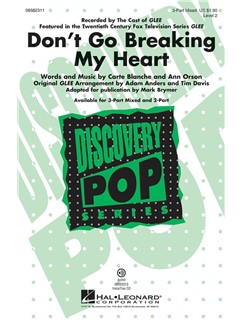 Don't Go Breaking My Heart (Brymer Mark) 3 Part Mixed Choral Libro |