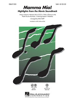 Mamma Mia! Highlights From The Movie Soundtrack (SAB) Books | SAB, Piano Accompaniment