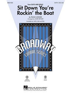 Frank Loesser: Sit Down You're Rockin' The Boat (SATB) Books | SATB