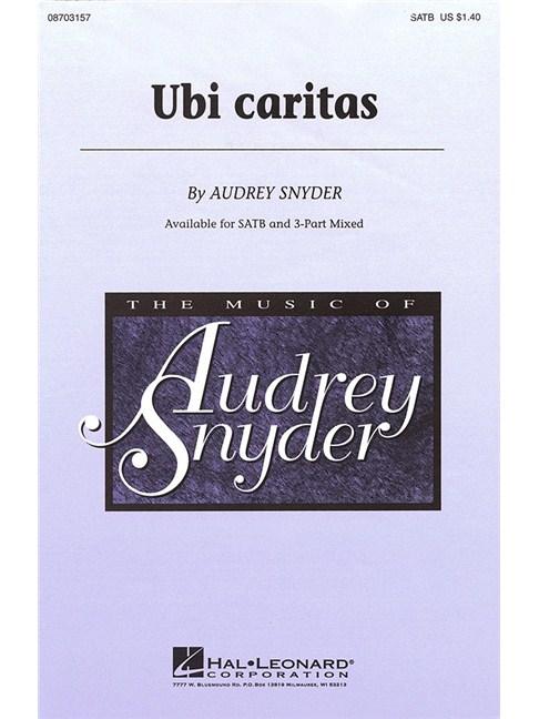 Audrey Snyder: Ubi Caritas (SATB) - Choral Sheet Music - Sheet Music ...