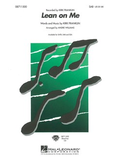 Kirk Franklin: Lean On Me (SAB) Livre | SAB, Accompagnement Piano