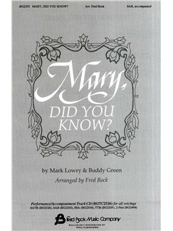 Mark Lowry/Buddy Green: Mary, Did You Know? Books | SAB