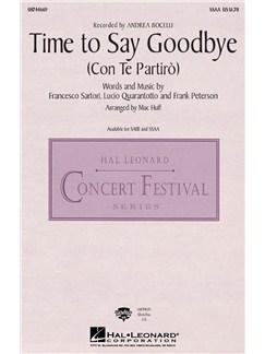 Andrea Bocelli/Sarah Brightman: Time to Say Goodbye (Con Te Partiro) - SSAA Books   SSAA