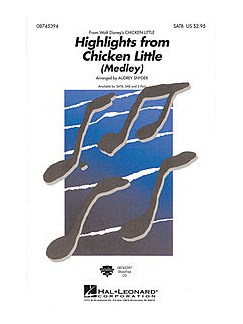 Highlights From Chicken Little: Medley (SAB Choral) Books | SAB
