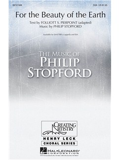 Philip Stopford: For The Beauty Of The Earth (SAATTBB A Cappella) Livre | SATB, Chorale