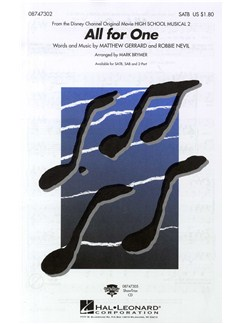 Matthew Gerrard And Robbie Nevil: All For One - SATB Books   SATB