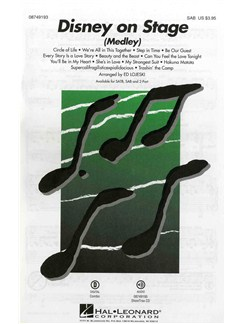 Disney On Stage - Medley (SAB/Piano) Books | SAB, Piano Accompaniment