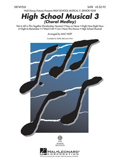 High School Musical 3: Choral Medley (SATB) Books | SATB, Piano Accompaniment
