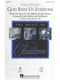 Andrea Bocelli: God Bless Us Everyone (Disney's A Christmas Carol) - SATB Books | SATB, Piano Accompaniment