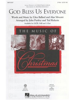 Andrea Bocelli: God Bless Us Everyone (Disney's A Christmas Carol) - 2-Part Books | 2-Part Choir, Piano Accompaniment
