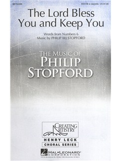 Philip Stopford: The Lord Bless You And Keep You Books | SSATB, Choral