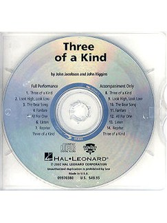 John Jacobson And John Higgins: Three Of A Kind (ShowTrax CD) CDs | Choral