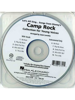 Let's All Sing Songs from Disney's Camp Rock: Collection For Young Voices (ShowTrax CD) CDs | Voice