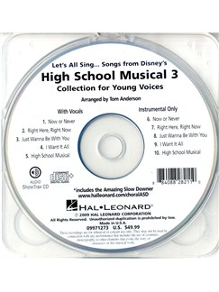 Let's All Sing Songs From Disney's High School Musical 3 (ShowTrax CD) CDs | Choral