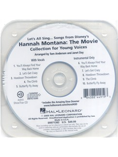 Let's All Sing Songs From Disney's Hannah Montana: The Movie - Performance/Accompaniment CD CDs | Voice