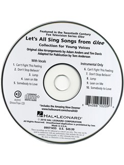 Let's All Sing Songs From Glee - Performance/Accompaniment CD CDs | Voice, Piano Accompaniment