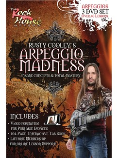 Rusty Cooley: Arpeggio Madness DVDs / Videos | Electric Guitar