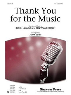 ABBA Thank You For Music (SSA) Books | Choral