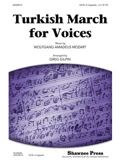 Turkish March For Vces (Gilpin) Satb Bog | Kor