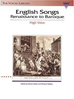 English Songs Renaissance To Baroque - High Voice Books | High Voice, Piano