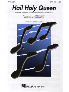 Hail Holy Queen (SATB) Livre | SATB, Accompagnement Piano