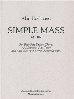 Alan Hovhaness: Simple Mass Books | Choral, SATB, Organ Accompaniment