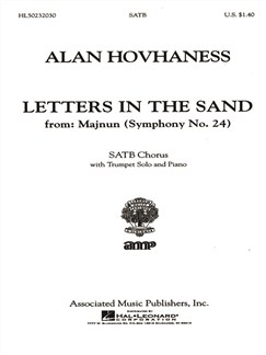 Alan Hovhaness: Letters In The Sand (From 'Majnun', Symphony No.24) Books | Trumpet, SATB, Piano Accompaniment