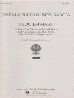 Jose Mauricio Nunes-Garcia: Requiem Mass Books   Choral, SATB, Piano Accompaniment