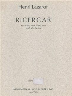 Henri Lazarof: Ricercar (1968) Books | Orchestra, Viola