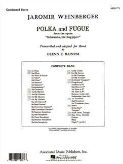 Jaromir Weinberger: Polka & Fugue - Condensed Score Books   Big Band & Concert Band