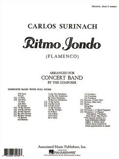 Carlos Surinach: Ritmo Jondo Books | Big Band & Concert Band