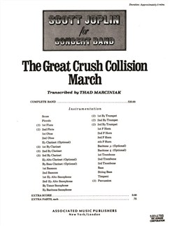 Scott Joplin: The Great Crush Collision March - Score For Concert Band Books | Big Band & Concert Band