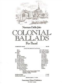 Norman Dello Joio: Colonial Ballads Books | Big Band & Concert Band