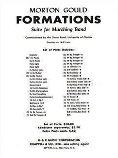 Morton Gould: Formations Books | Big Band & Concert Band
