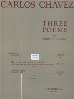 Carlos Chavez: Segador (From 'Three Poems') Books | Voice, Piano Accompaniment