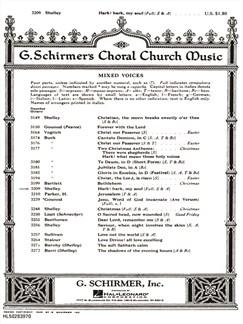 Harry Rowe Shelley: Hark! Hark, My Soul! Books | Choral, SATB, Organ Accompaniment