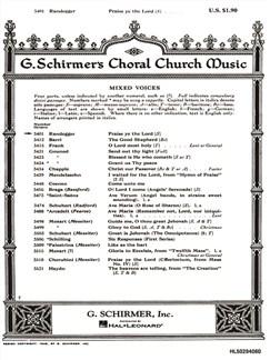 A. Randegger: Praise Ye The Lord (Psalm 150) Books | Soprano, SATB, Piano Accompaniment
