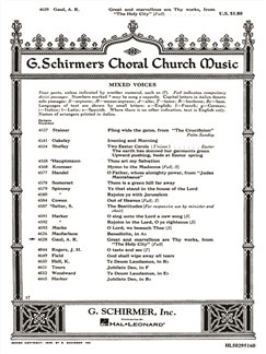 A. R. Gaul: Great And Marvelous Are Thy Works (From The Holy City) Books | Choral, SATB, Piano Accompaniment
