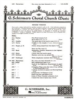 Will C. Macfarlane: Ho, Every One That Thirsteth Books   Choral, SATB, Organ Accompaniment