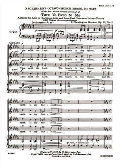F. Flaxington Harker: Turn Ye Even To Me Books | Choral, SATB, Organ Accompaniment