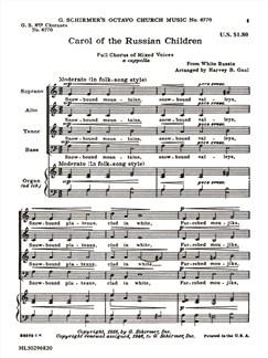 Arr. Harvey B. Gaul: Carol Of The Russian Chldren Books | Choral, SATB, Organ Accompaniment