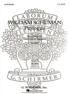 William Schuman: Prologue Books | Choral, SATB, Piano Accompaniment