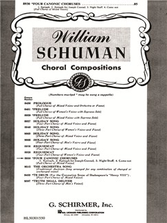 William Schuman: Four Canonic Choruses Books | Choral, SATB