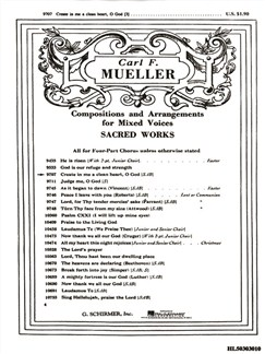 Carl F. Mueller: Create In Me A Clean Heart, O God Books | Choral, SAB, Organ Accompaniment