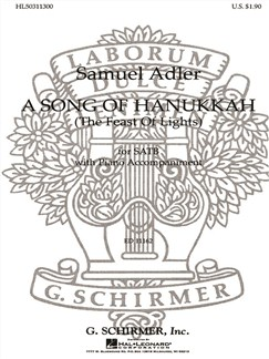 Samuel Adler: A Song Of Hanukkah (The Feast Of Lights) Books | Choral, SATB, Piano Accompaniment